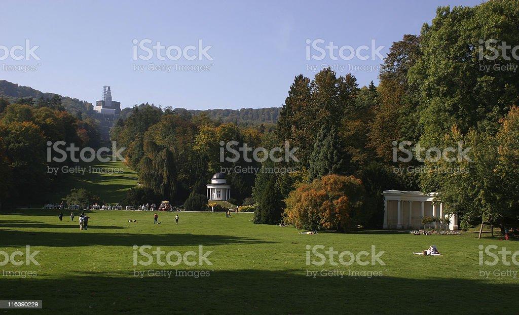 Herkules mit Bergpark Wilhelmshöhe in Kassel stock photo