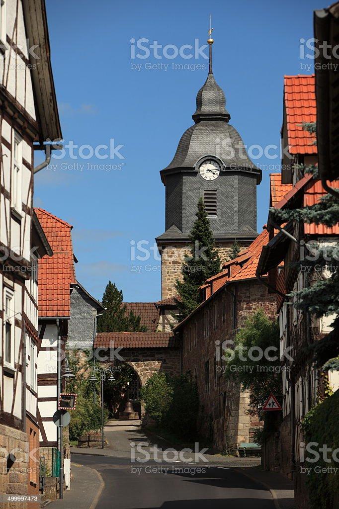 Burgkirche Herleshausen stock photo