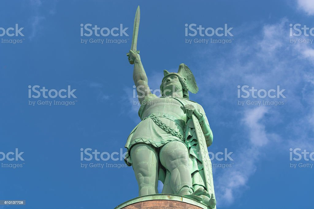 Hermann Monument in the Teutoburg Forest in Germany. stock photo