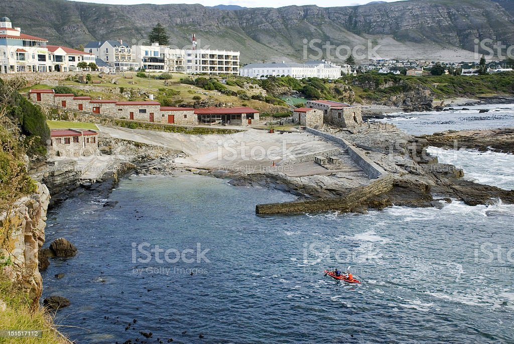 Hermanus Old Harbour stock photo
