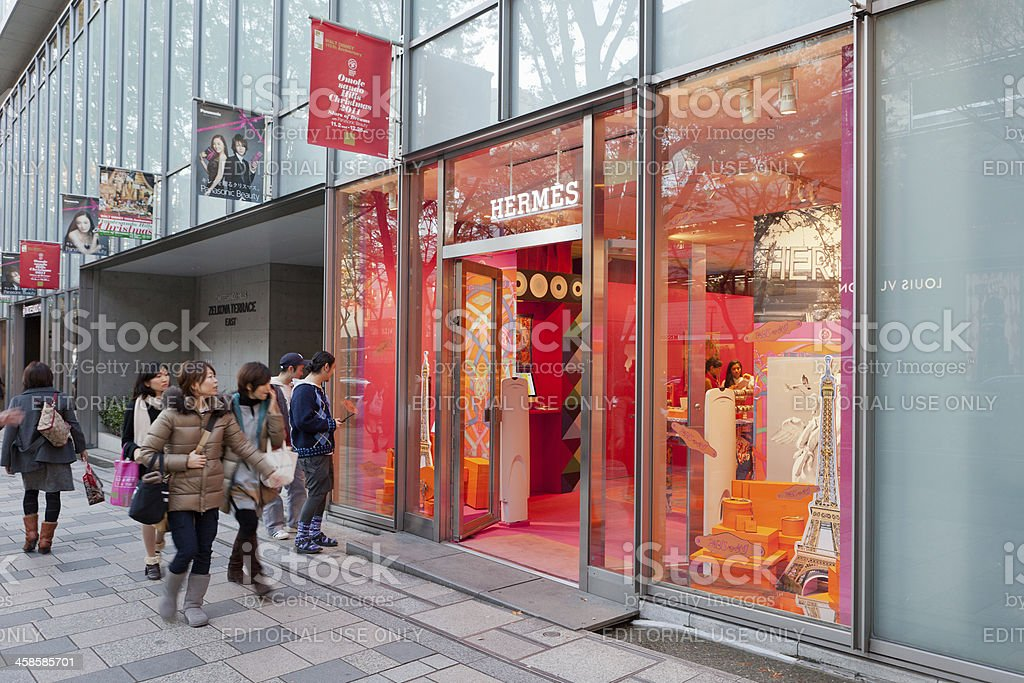 Hermes boutique in Tokyo, Japan stock photo