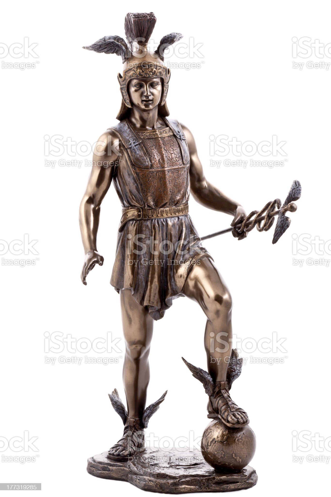 Hermes bronze statue royalty-free stock photo