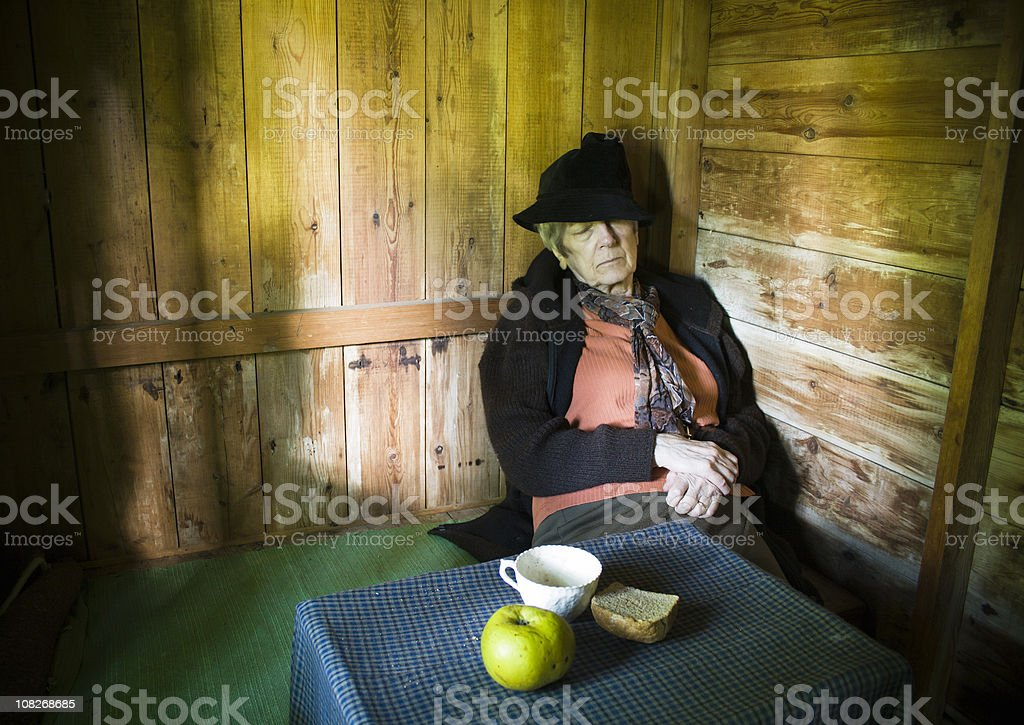 Hermit in a Hut stock photo