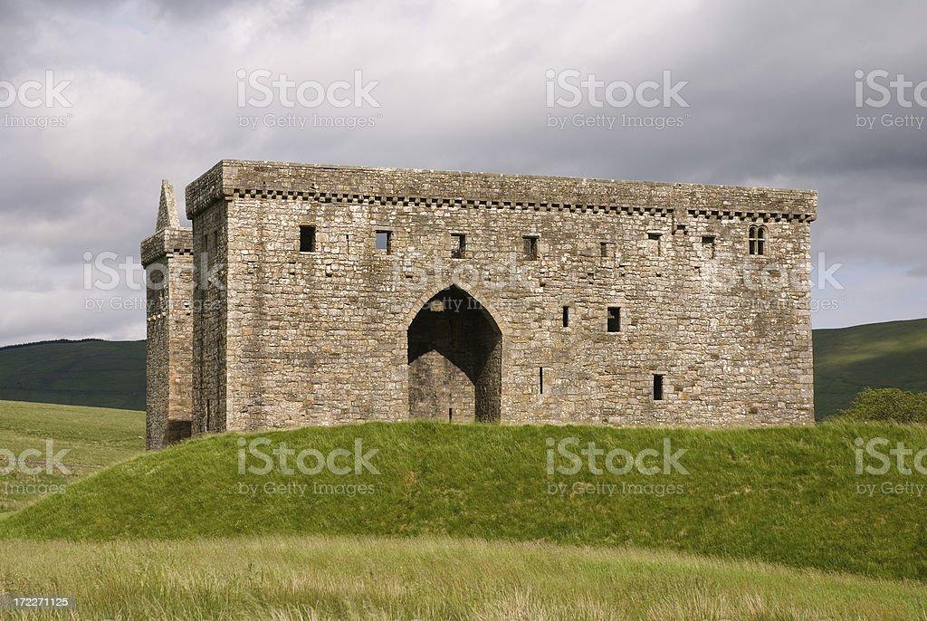 Hermitage Castle stock photo