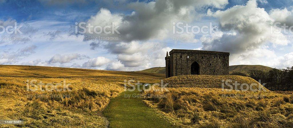Hermitage Castle, Scottish Borders, Scotland, UK royalty-free stock photo