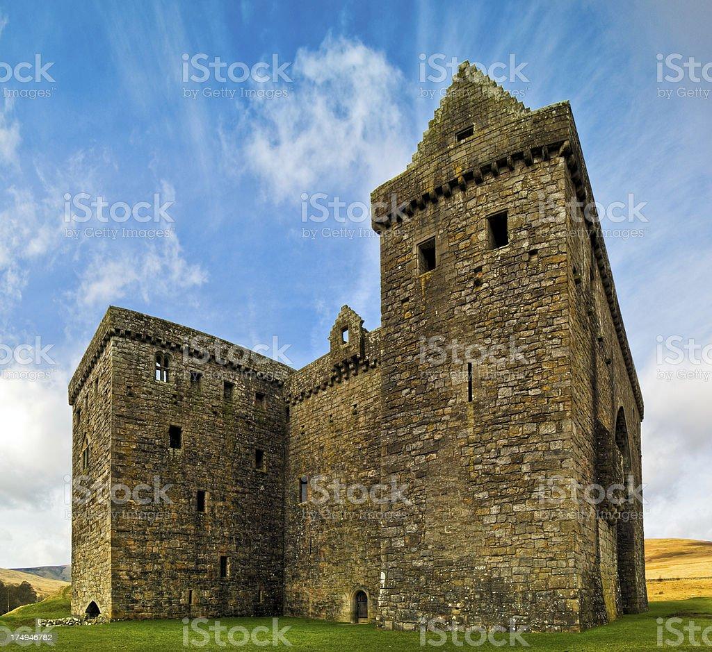 'Hermitage Castle, Scottish Borders, Scotland, UK' stock photo