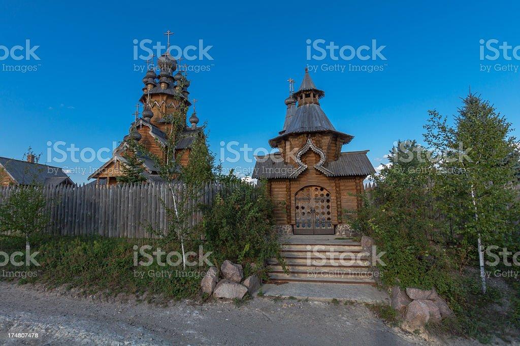 Hermitage of Svyatogorsk Orthodox Monastery stock photo