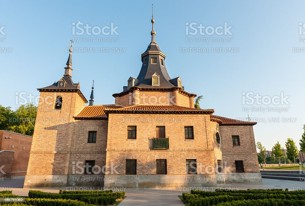 Hermitage of Virgen del Puerto, Madrid stock photo