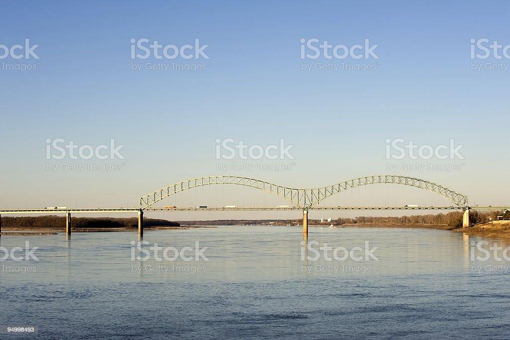 Hernando deSoto Bridge stock photo