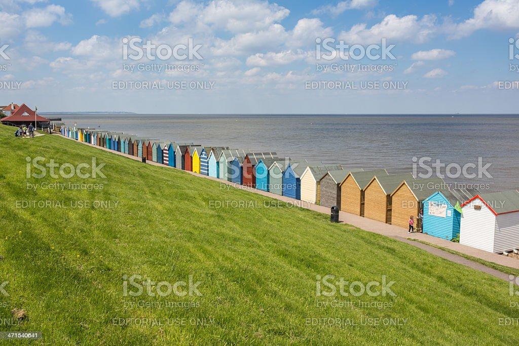 Herne Bay Beach Huts royalty-free stock photo