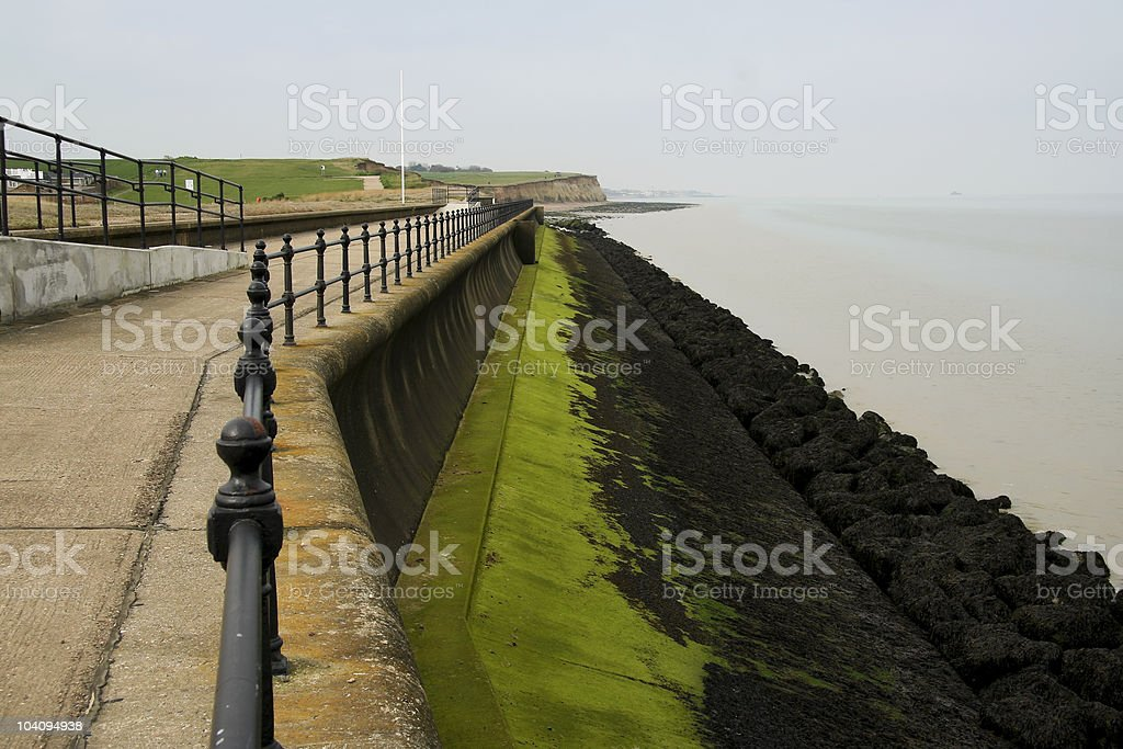 herne bay coastal erosion defenses royalty-free stock photo