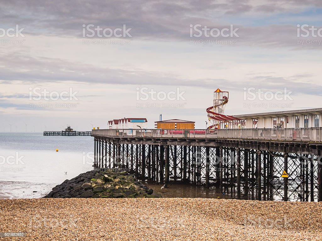Herne Bay, Pier, Kent, Uk stock photo