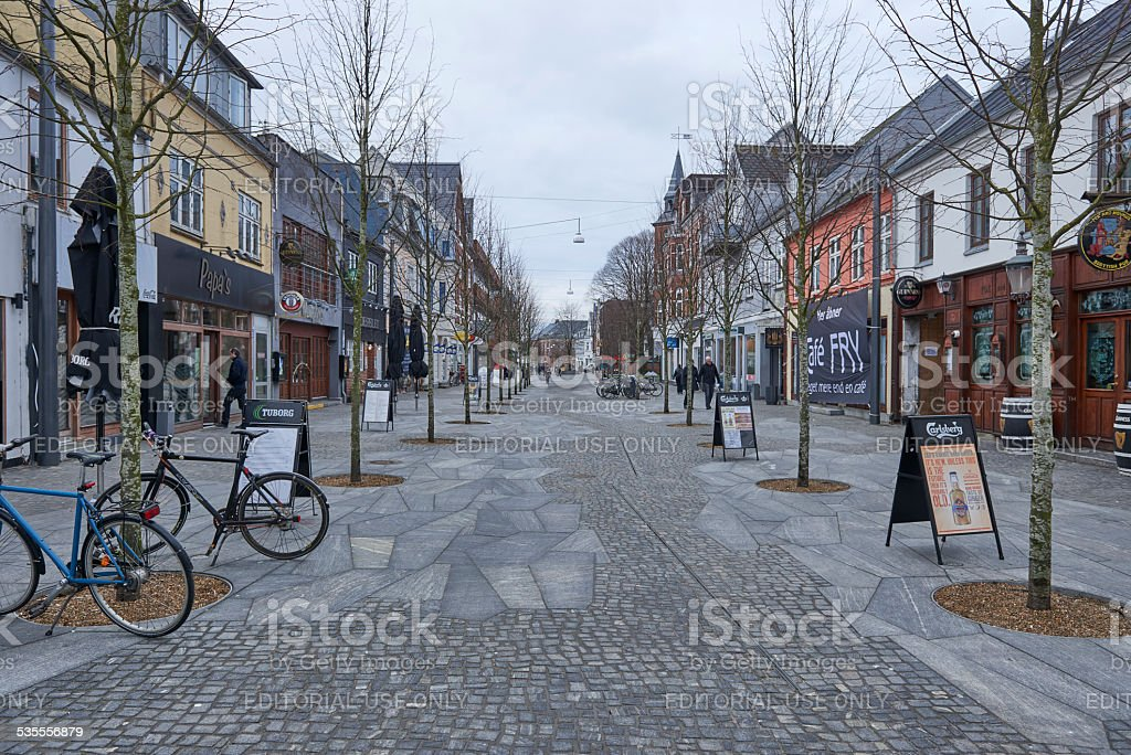 Herning city in the center where cars are abandoned stock photo