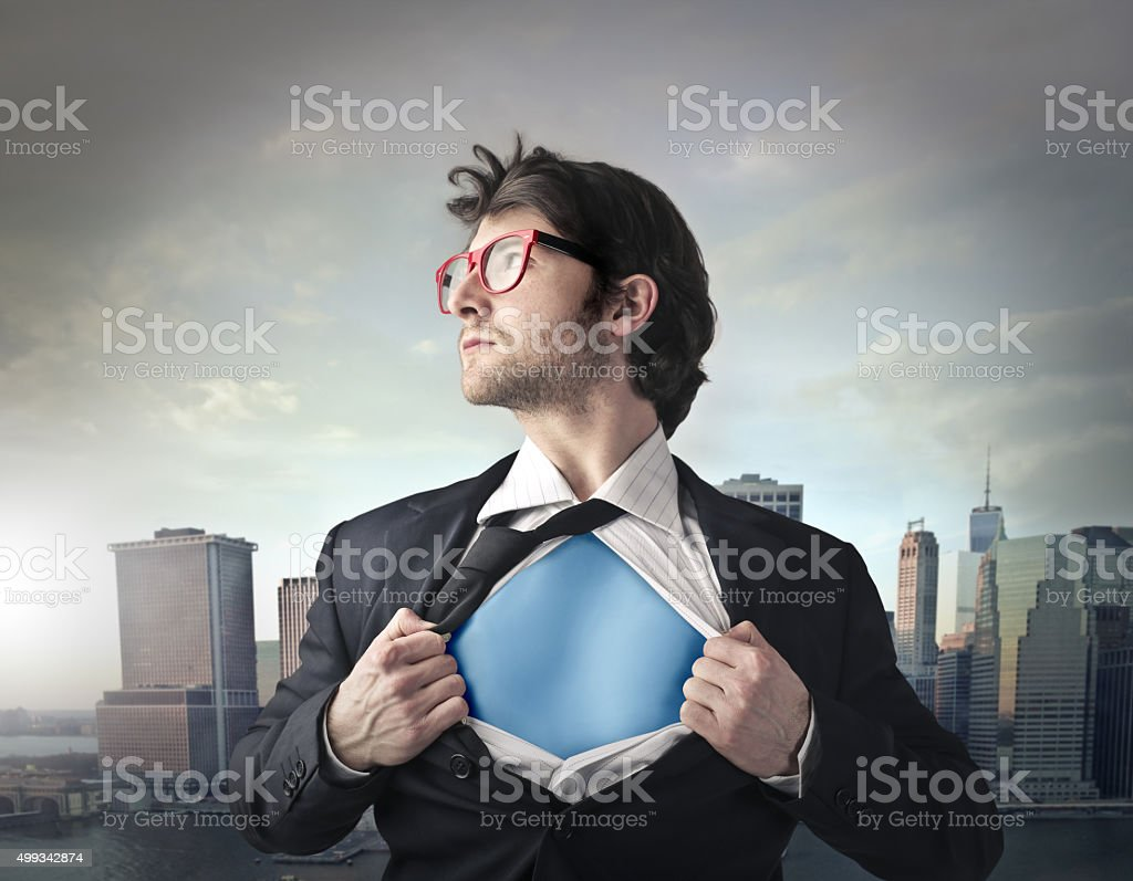 Hero in disguise stock photo