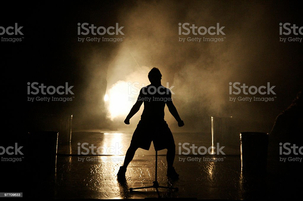Hero stance stock photo