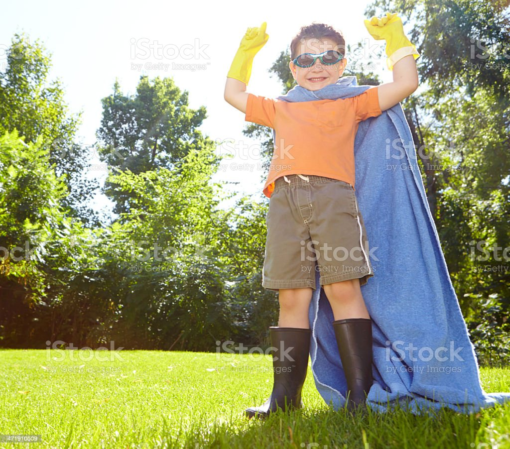 Hero time in the garden royalty-free stock photo