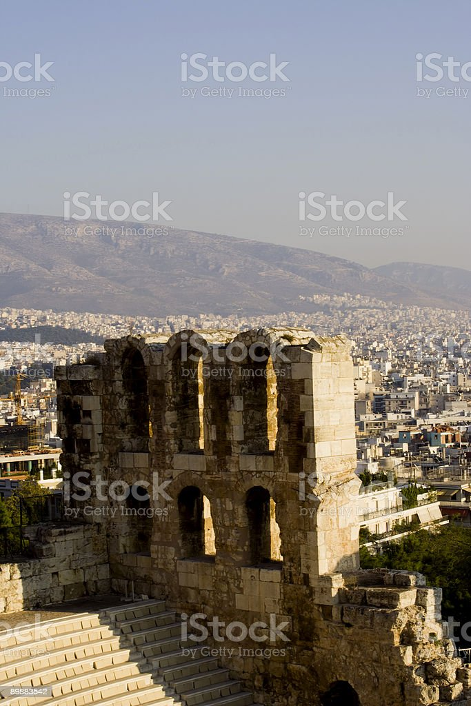 herodes atticus theatre in athens royalty-free stock photo