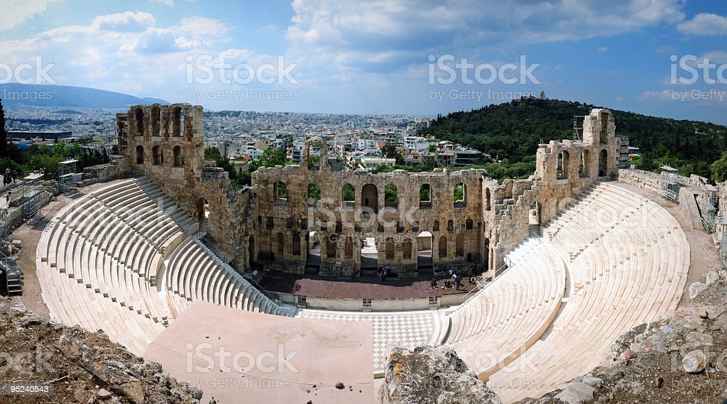 Herodes Atticus Theater stock photo
