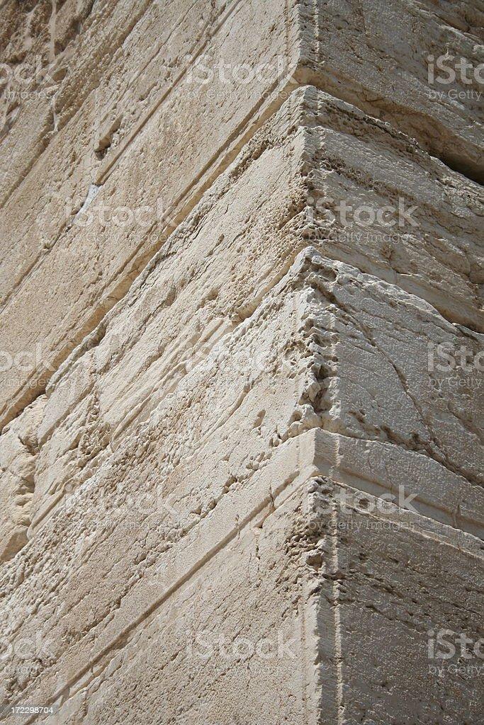 Herodian Stones in Jerusalem stock photo