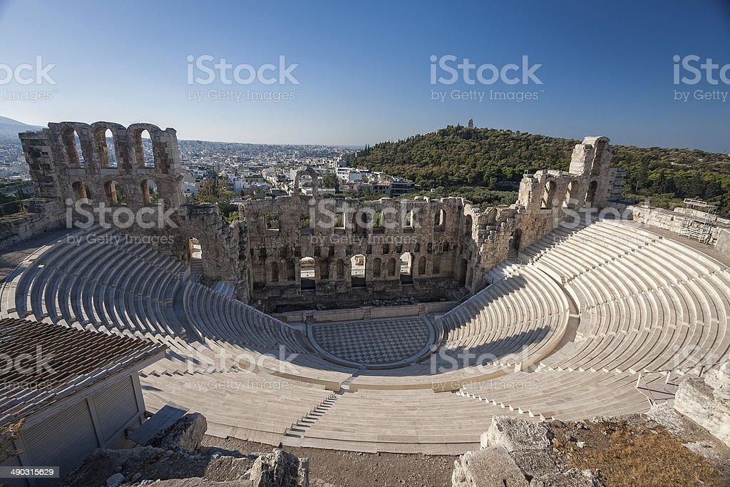 Herodion Amphitheatre, Athens stock photo