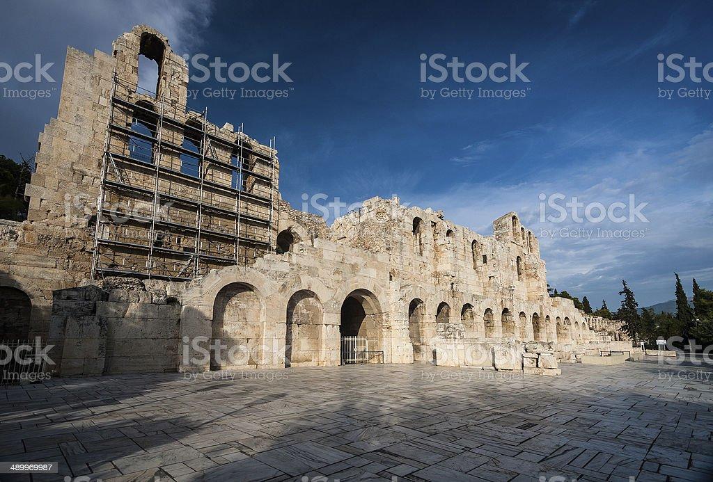 Herodion, Athens stock photo