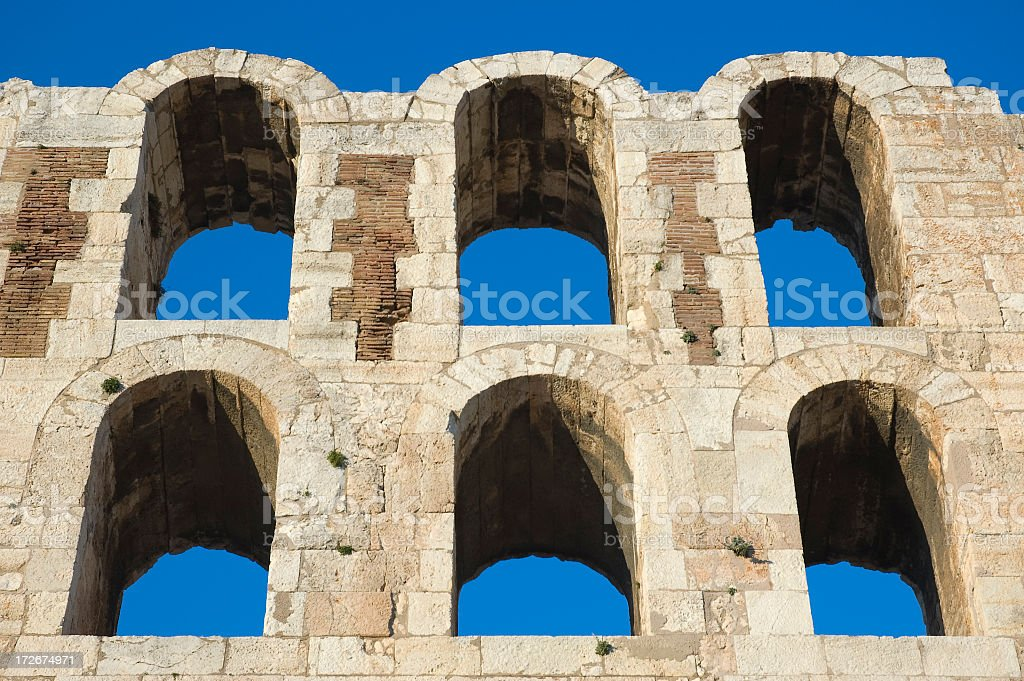 Herodion Theatre royalty-free stock photo