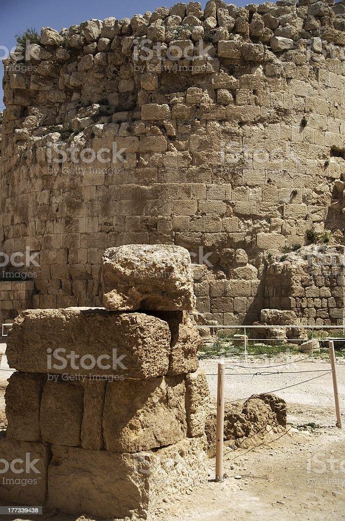 Herodium castle ruins stock photo