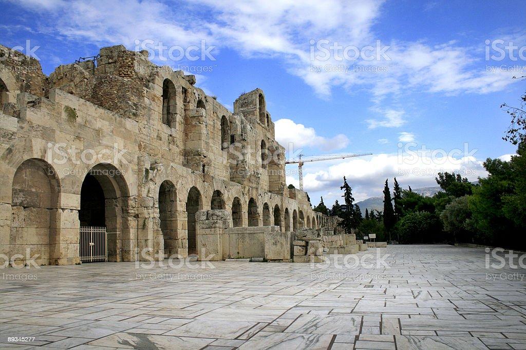 Herodus Atticus Theatre entrance - Athens, Greece royalty-free stock photo