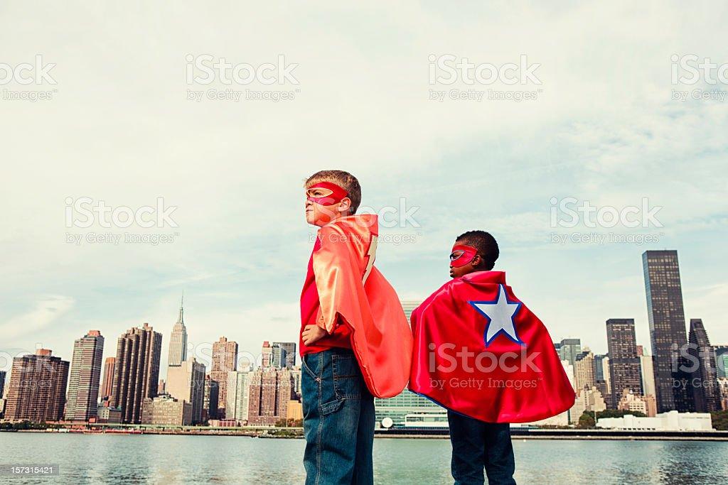 Heroes of Manhattan stock photo