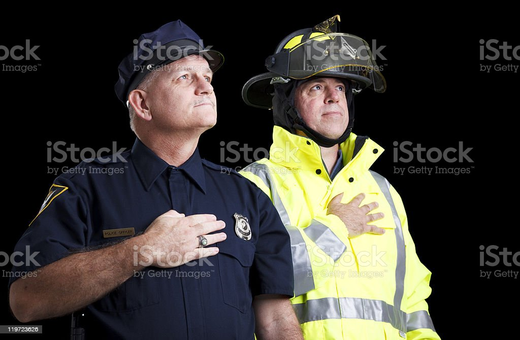 Heroes Pledge of Allegiance stock photo