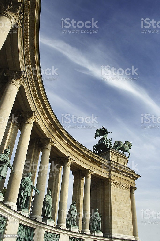 Heroes square Budapest, Hungary royalty-free stock photo