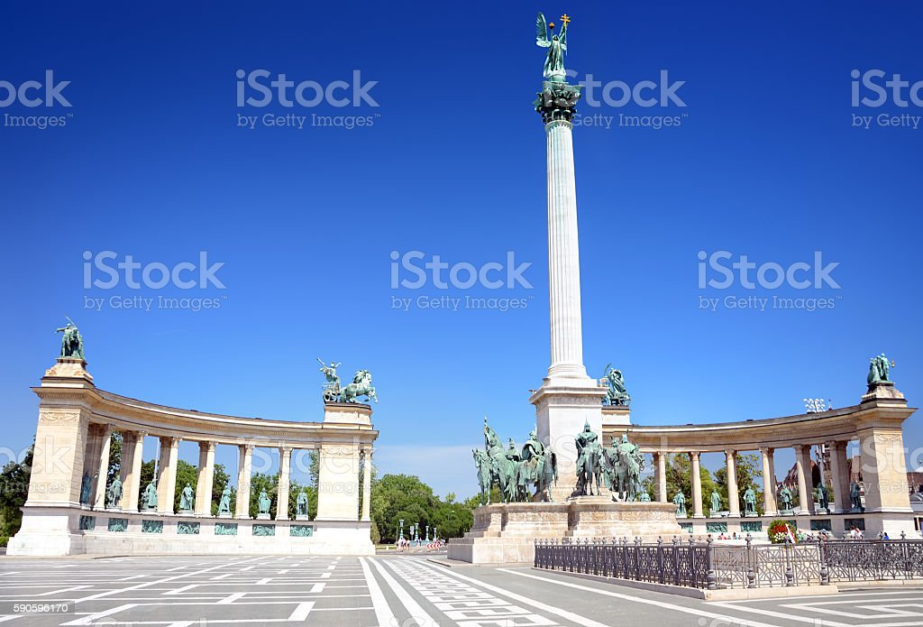 Heroes Square, Budapest stock photo