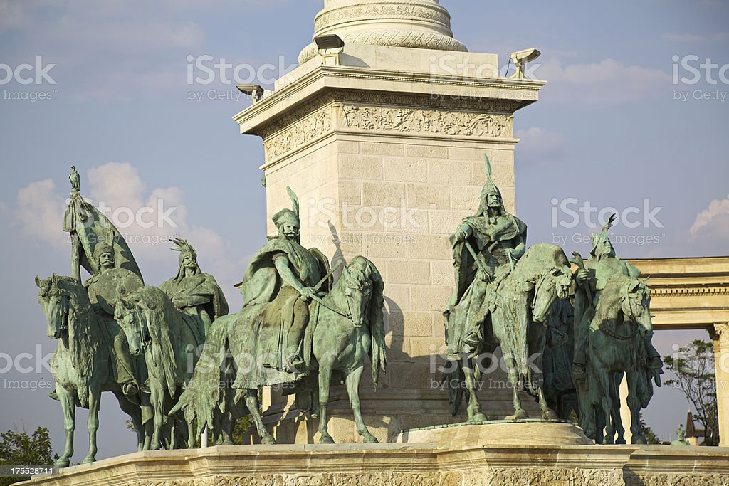 Heroes' square detail. Budapest. royalty-free stock photo
