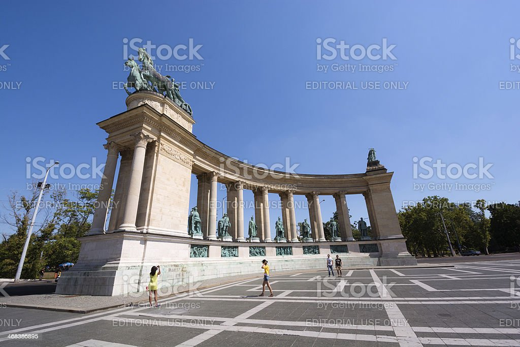 H?s?k tere in Budapest, Hungary stock photo