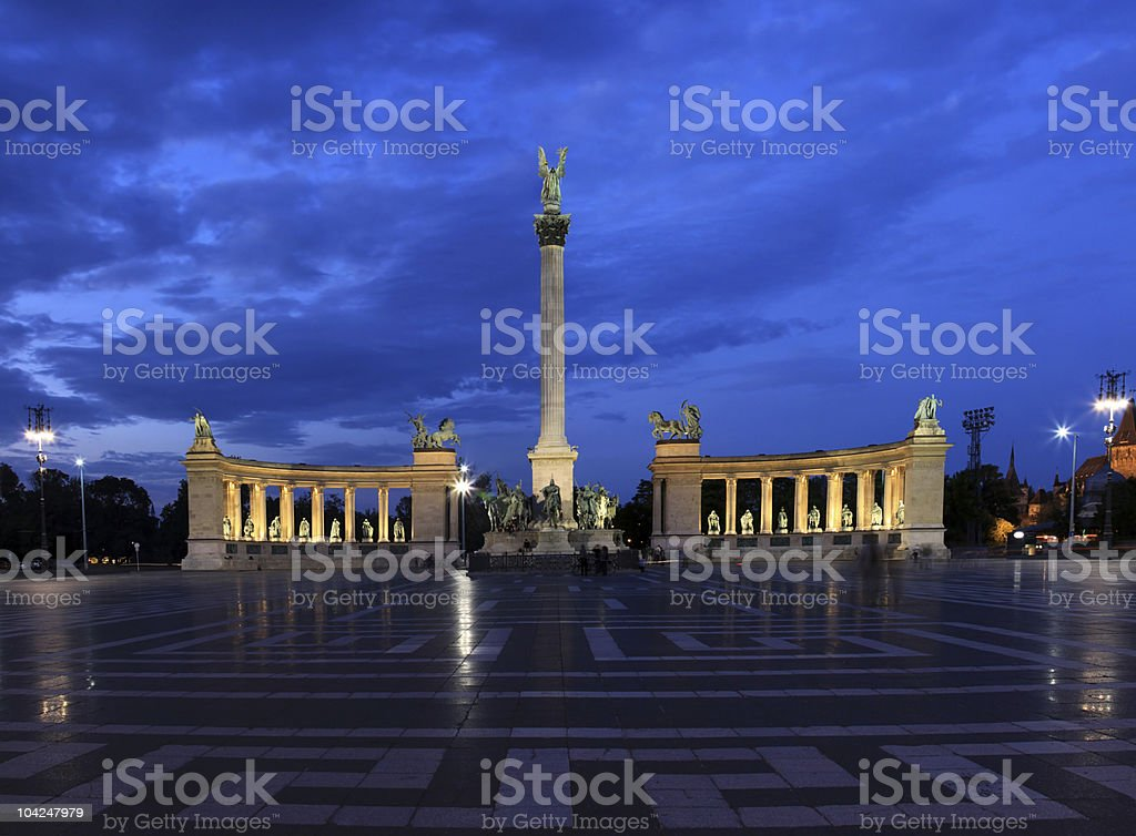 Heroes' Square in Budapest royalty-free stock photo