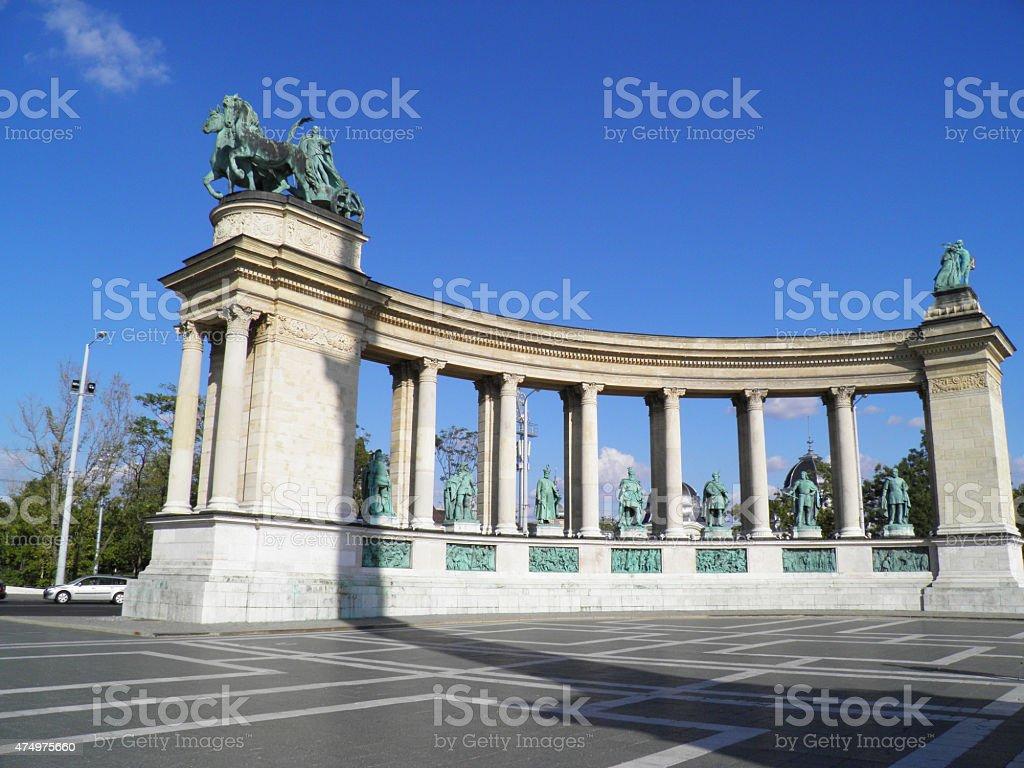 Plaza de los héroes en Budapest foto de stock libre de derechos