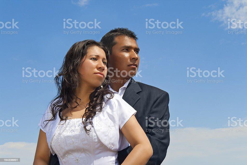 Heroic Couple royalty-free stock photo