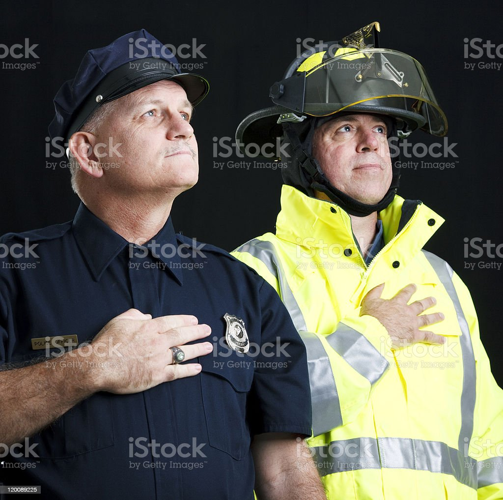 Heroic First Responders stock photo