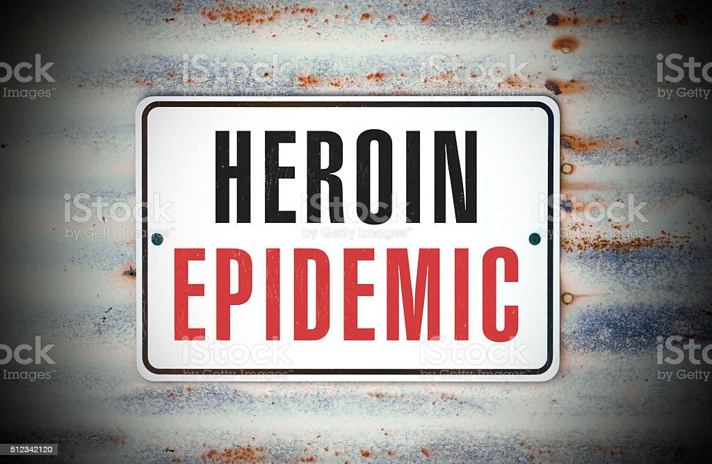 Heroin Epidemic stock photo