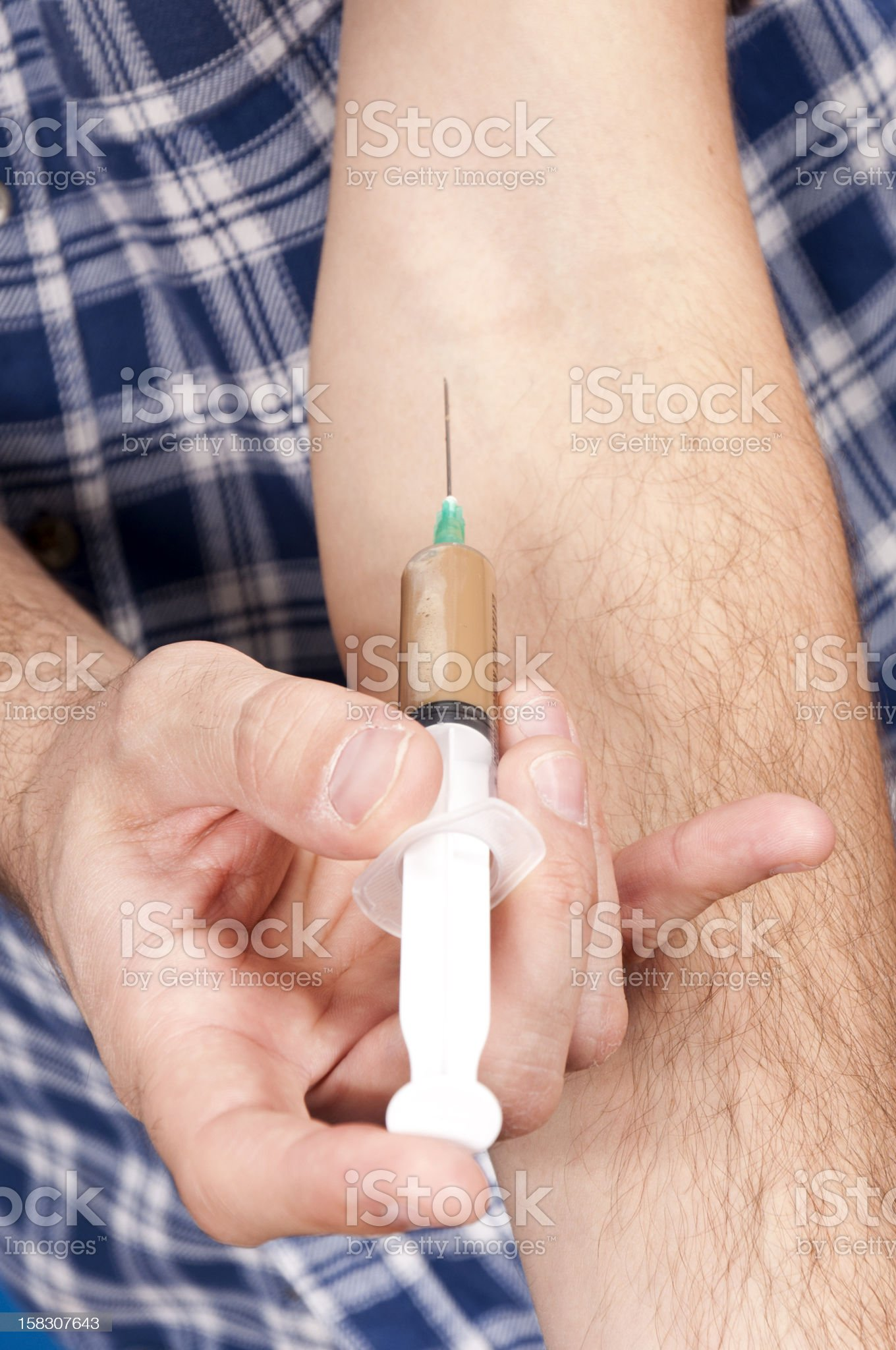 Heroin user royalty-free stock photo