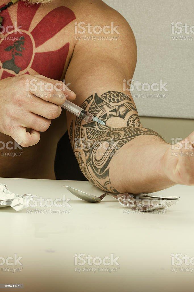 Heroine addiction stock photo