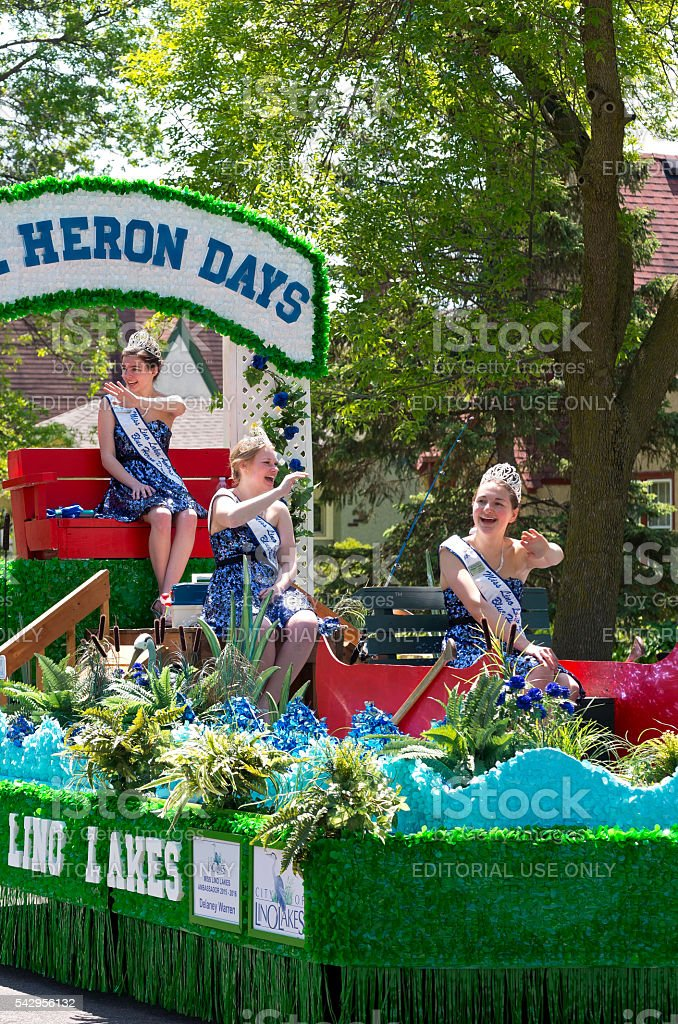 Heron Days Ambassadors at Parade stock photo