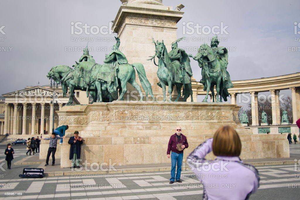 Hero's Square - Budapest, Hungary royalty-free stock photo