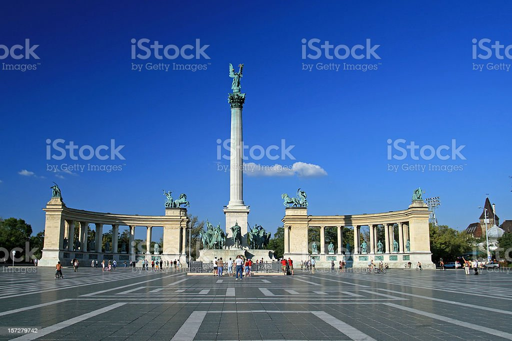 Hero's Square Budapest royalty-free stock photo