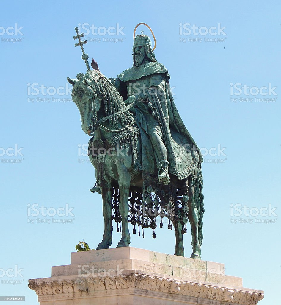 Hero's Square King and Saint stock photo