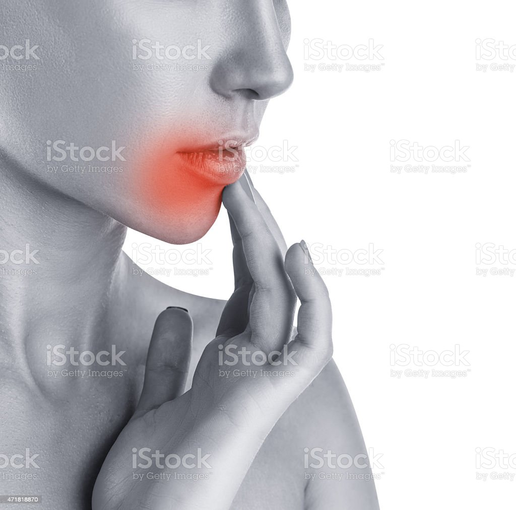 Herpes concept stock photo