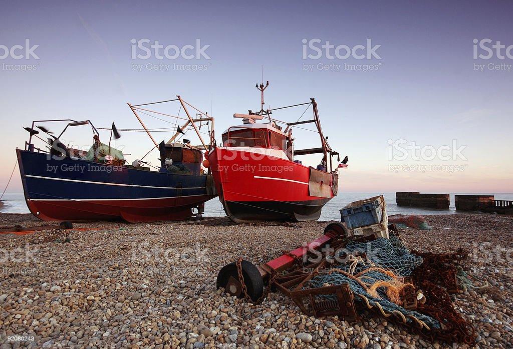 Herring boats royalty-free stock photo