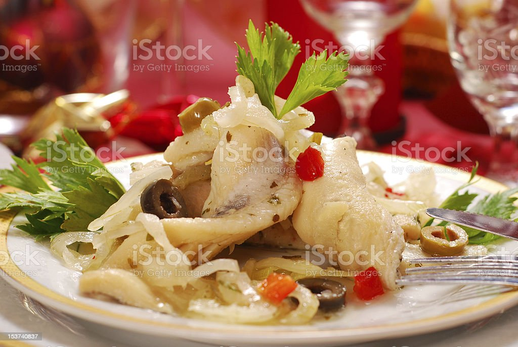 herring fillets for christmas royalty-free stock photo