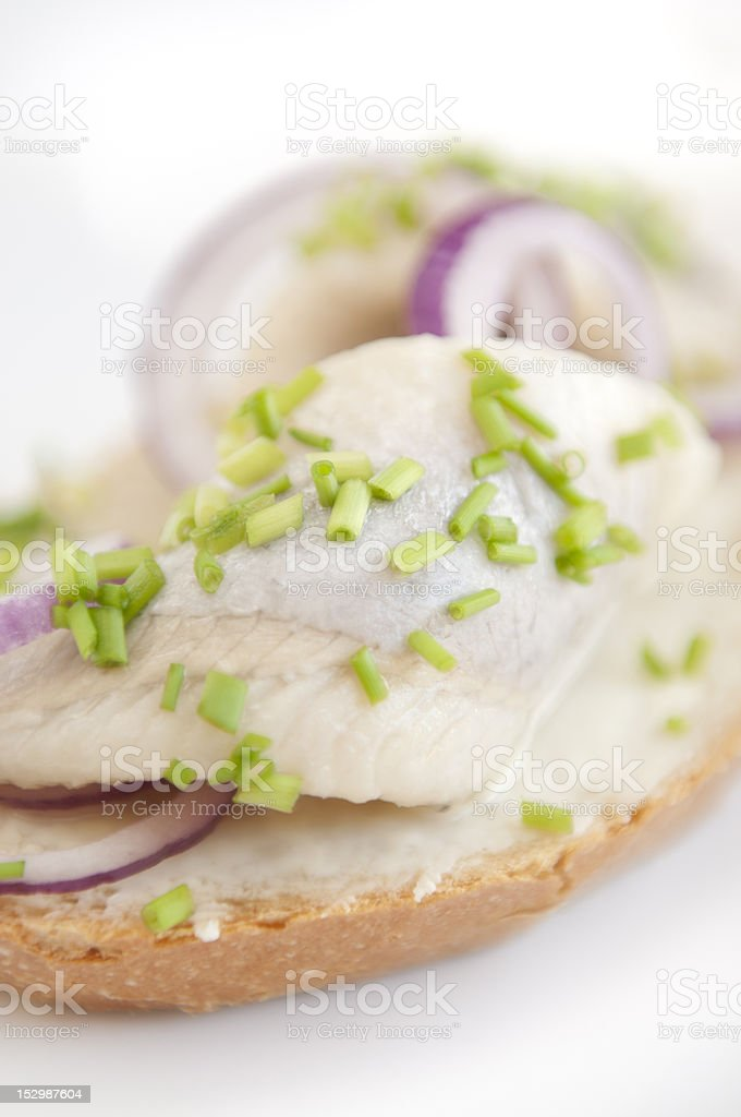 Herring Sandwich royalty-free stock photo