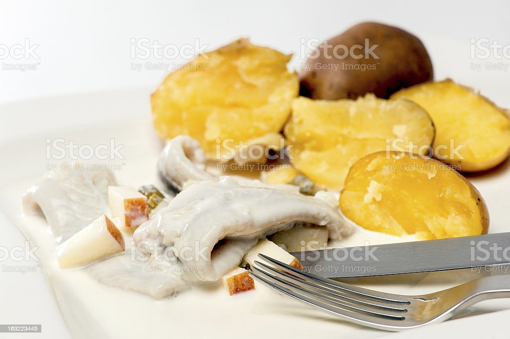 Herring with Potatoes stock photo